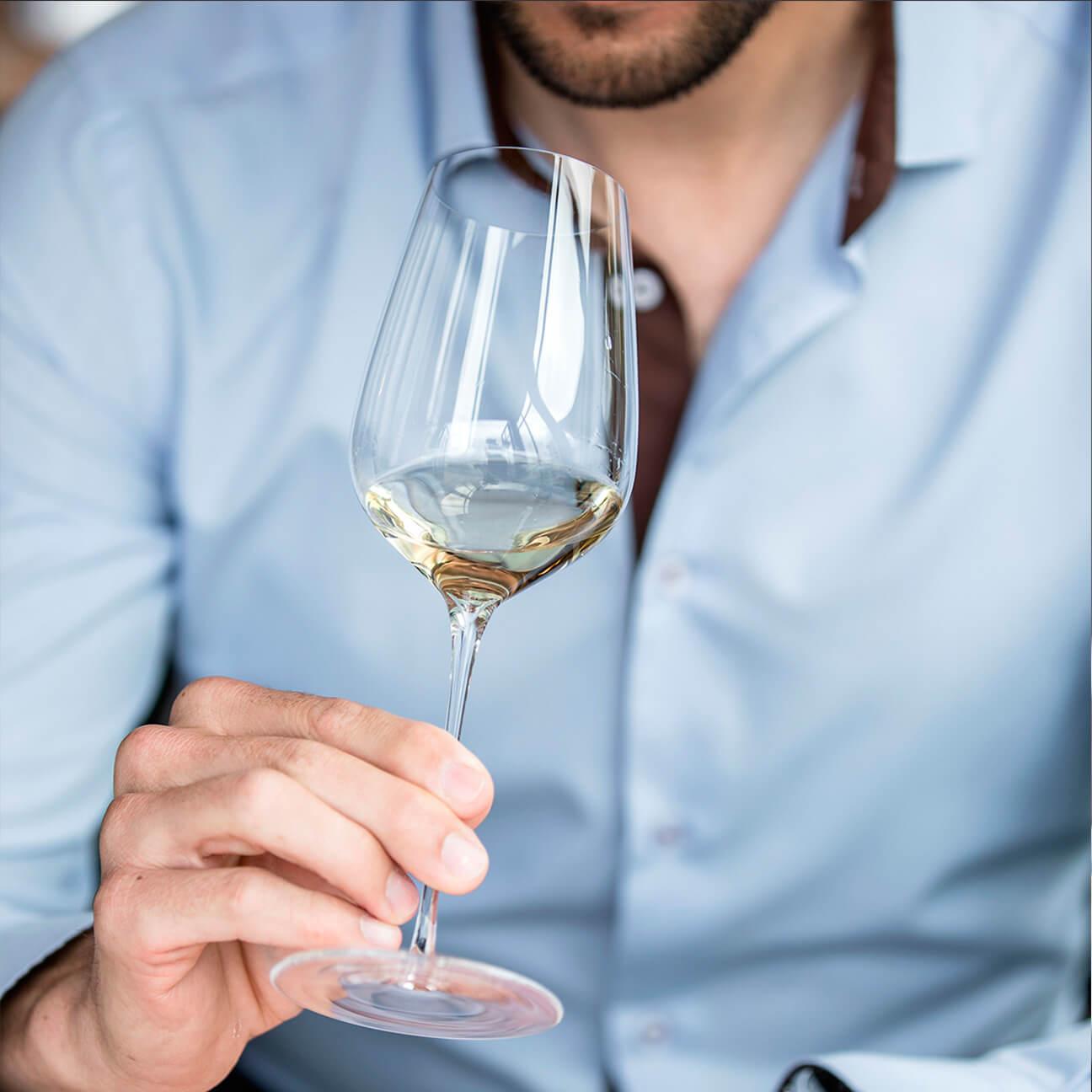 Белое вино в Бокалах Sydonios  l'Universel